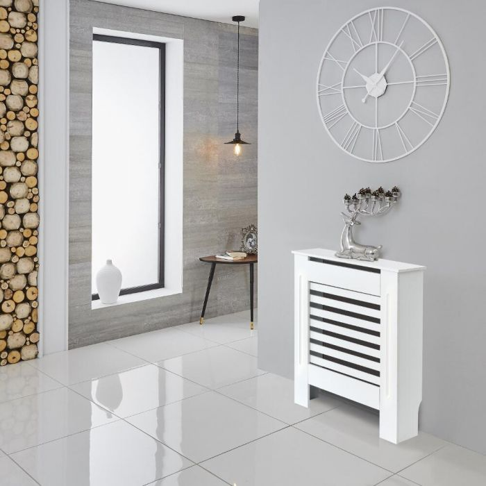 Milano Elstree - White Radiator Cabinet - 815mm x 780mm