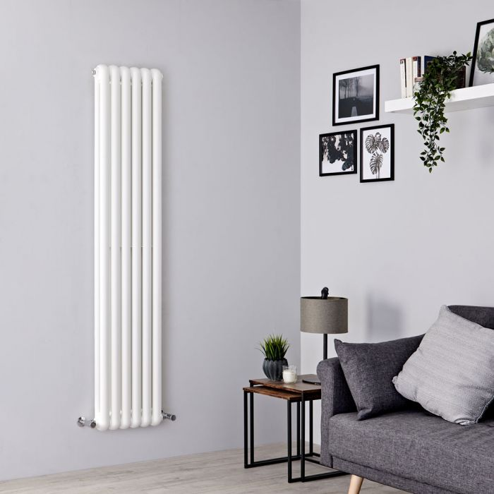 Milano Urban - White Vertical Double Column Radiator 1500mm x 383mm