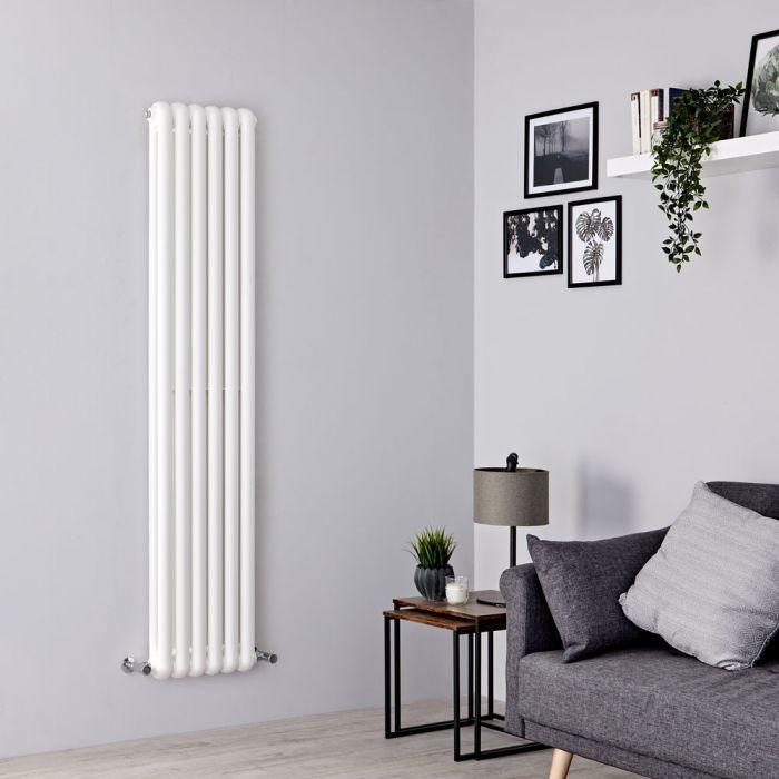 Milano Urban - White Vertical Double Column Radiator 1800mm x 383mm