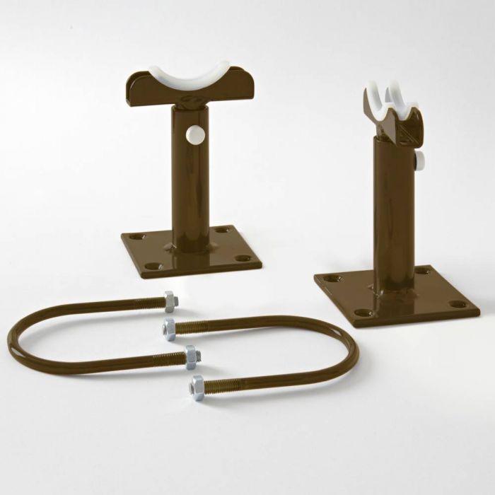 Milano Windsor - Floor-Mounting Feet for 500mm and 750mm Column Radiators - Metallic Bronze