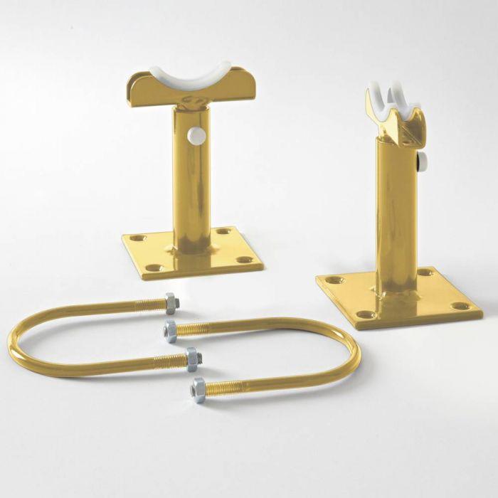 Milano Windsor - Floor-Mounting Feet for 500mm and 750mm Column Radiators - Metallic Gold