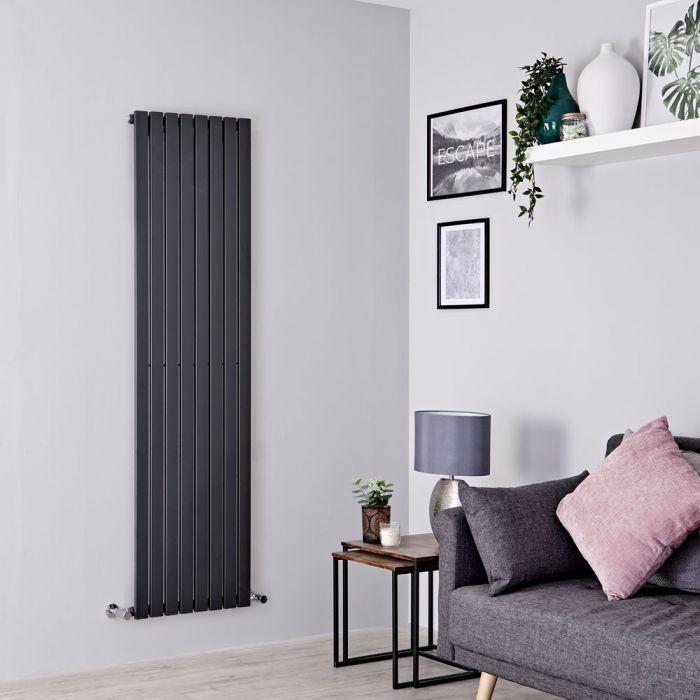 Milano Capri - Anthracite Vertical Flat Panel Designer Radiator 1780mm x 472mm