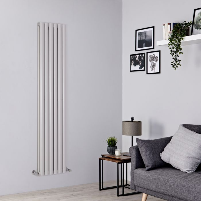 Milano Aruba - Light Grey Vertical Designer Radiator 1780mm x 354mm (Double Panel)