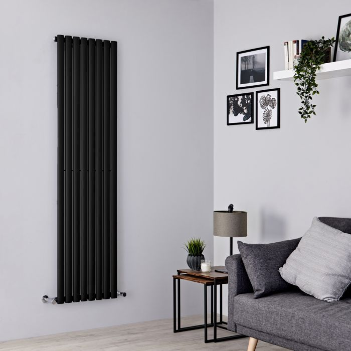 Milano Aruba - Black Vertical Designer Radiator 1780mm x 472mm