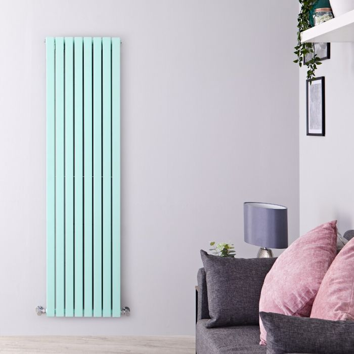 Milano Capri - Light Mint Green Flat Panel Vertical Designer Radiator - 1780mm x 472mm (Double Panel)