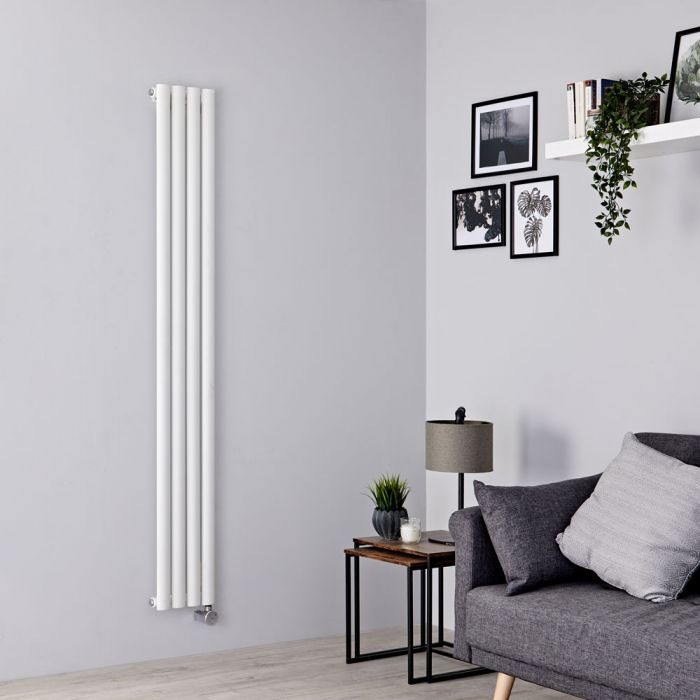 Milano Aruba Slim Electric - White Space-Saving Vertical Designer Radiator 1780mm x 236mm