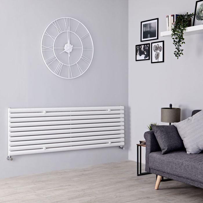 Milano Aruba - White Horizontal Designer Radiator 590mm x 1780mm