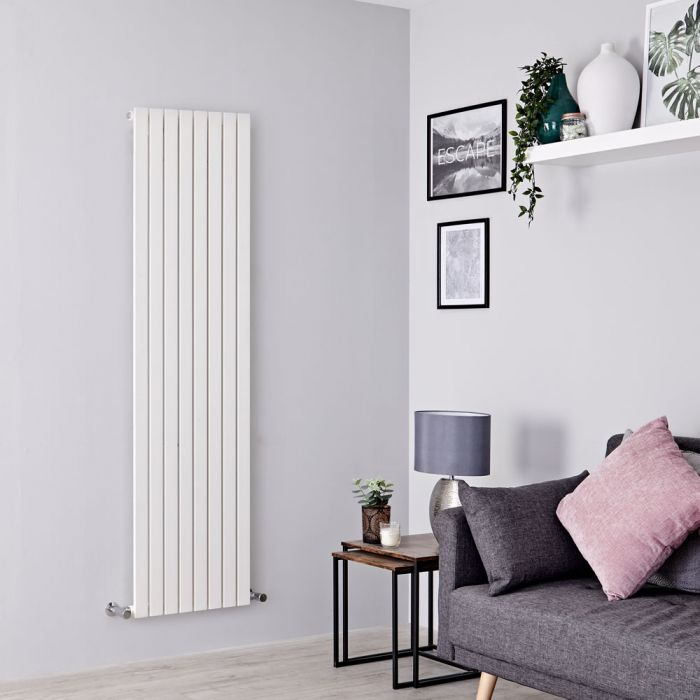 Milano Capri - White Vertical Flat Panel Designer Radiator 1780mm x 472mm