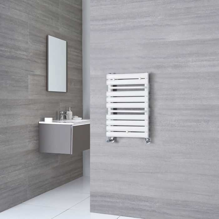 Milano Select - White Designer Heated Towel Rail 650mm x 445mm