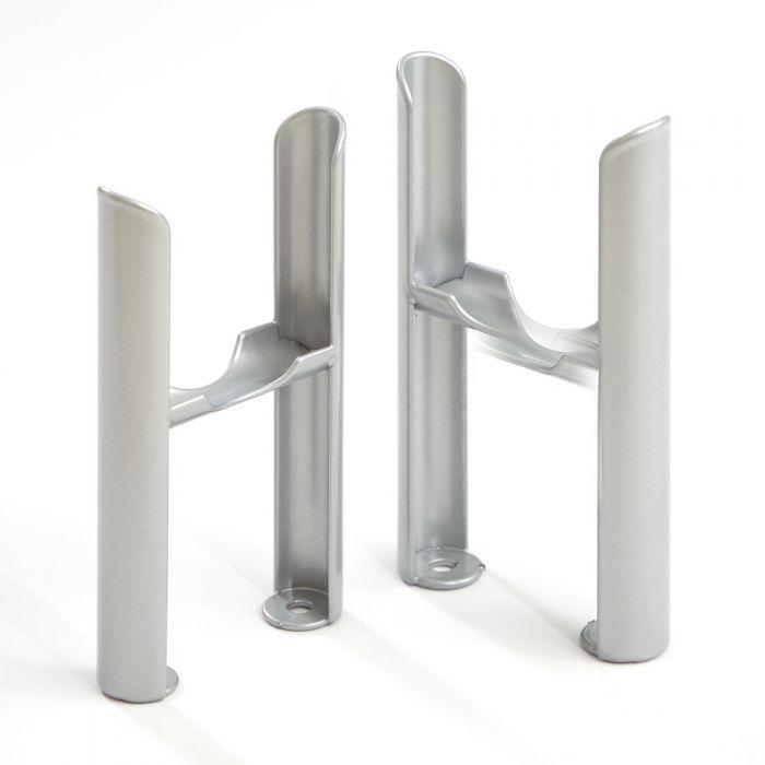 Milano Windsor - Traditional 3 Column Windsor Radiator Feet – Metallic Silver
