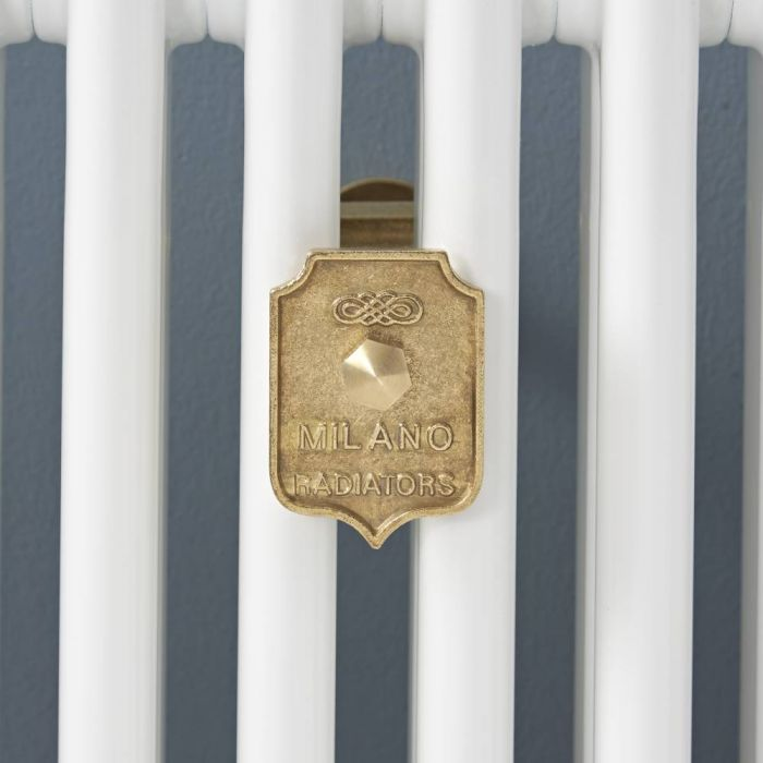 Milano Windsor - Column Radiator Luxury Wall Stay - Brass