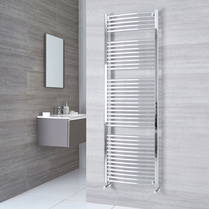 Sterling - Premium Chrome Curved Heated Towel Rail 1800mm x 600mm