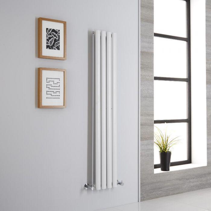 Milano Aruba - Modern White Vertical Designer Radiator 1400mm x 236mm (Single Panel)