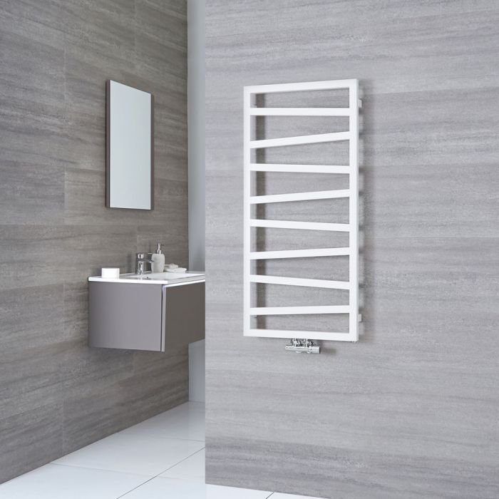 Terma ZigZag - White Vertical Heated Towel Rail 1070mm x 500mm