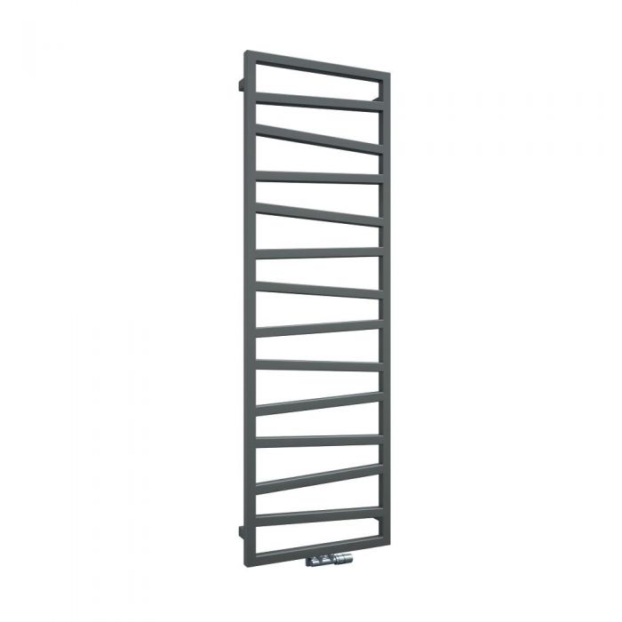 Terma Zig Zag - Silver Vertical Heated Towel Rail 1545mm x 500mm