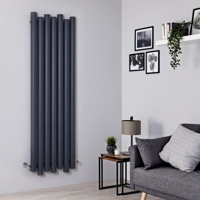 Milano Motus - Anthracite Vertical Aluminium Designer Radiator 1800mm x 550mm