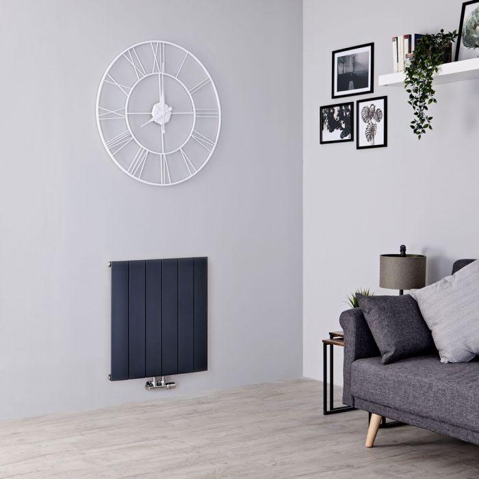 Milano Skye - Aluminium Anthracite Horizontal Designer Radiator 600mm x 565mm