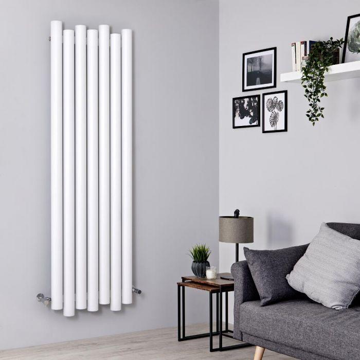 Milano Motus - White Vertical Aluminium Designer Radiator 1800mm x 550mm