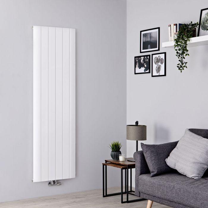 Milano Skye - Aluminium White Vertical Designer Radiator 1600mm x 565mm