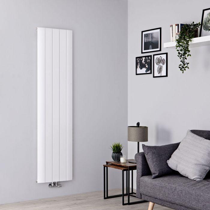 Milano Skye - Aluminium White Vertical Designer Radiator 1800mm x 470mm