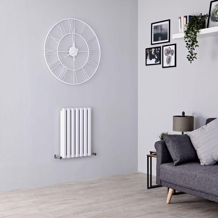 Milano Aruba Ayre - Aluminium White Horizontal Designer Radiator 600mm x 410mm (Double Panel)