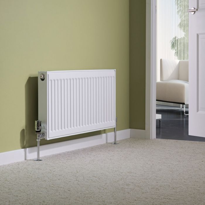 Milano Compact - Type 21 Double Panel Plus Radiator - 400mm x 800mm