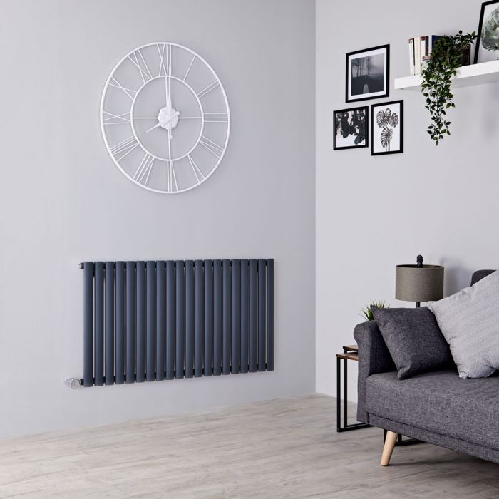Milano Aruba Electric - Anthracite Horizontal Designer Radiator 635mm x 1180mm