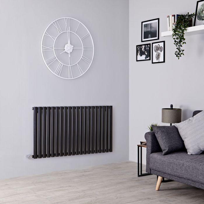Milano Aruba Electric - Black Horizontal Designer Radiator 635mm x 1180mm