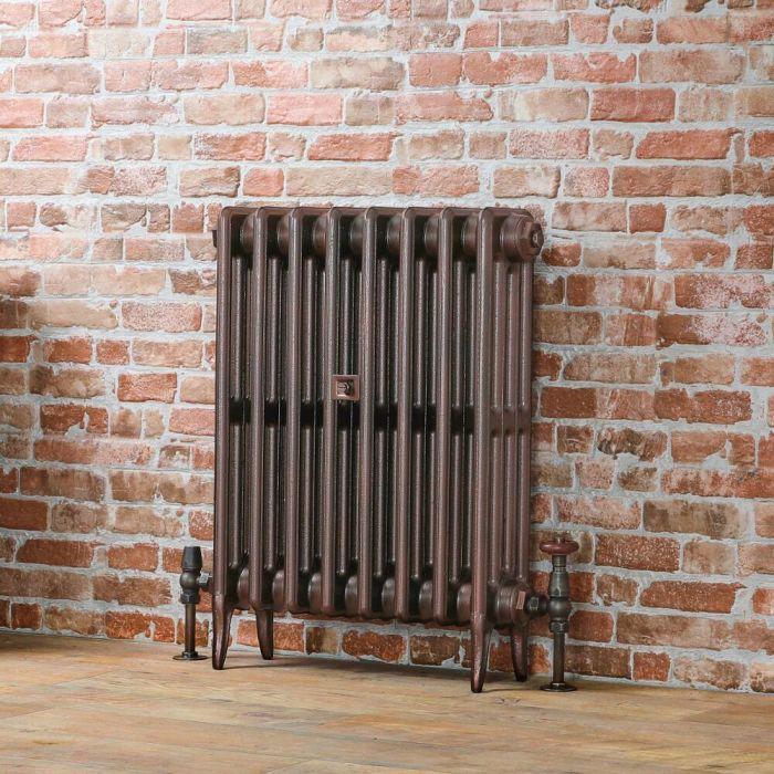 Milano Alice Classic Cast-Iron Column Radiator 660mm - Antique Copper