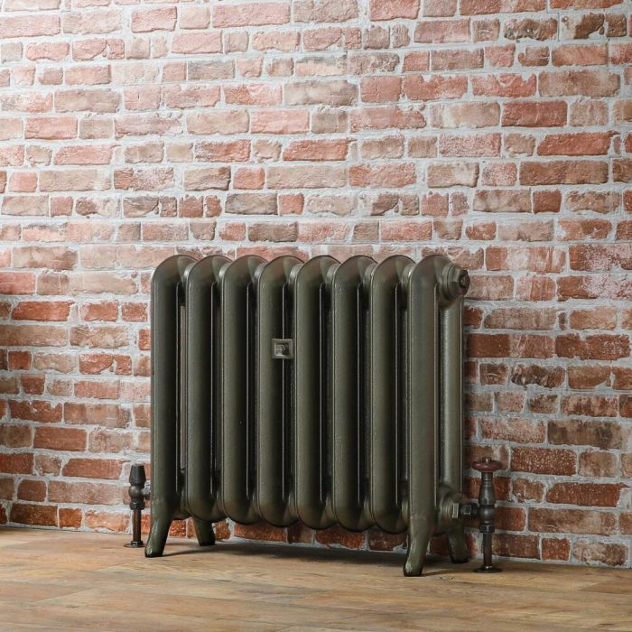 Milano Tamara - Oval Column Cast Iron Radiator - 560mm Tall - Antique Brass - Multiple Sizes Available