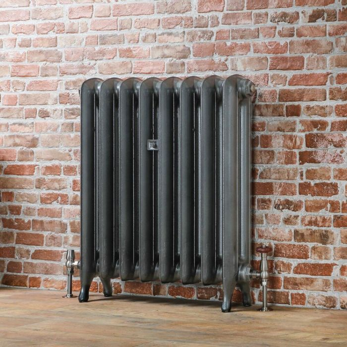 Milano Tamara - Oval Column Cast Iron Radiator - 760mm Tall - Pewter - Multiple Sizes Available
