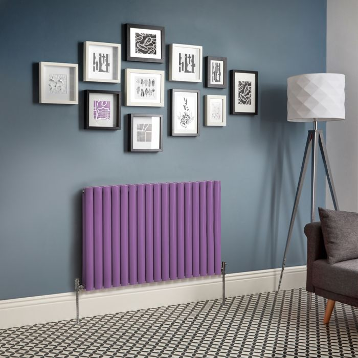 Milano Aruba - Purple Horizontal Double Panel Designer Radiator - Various Sizes