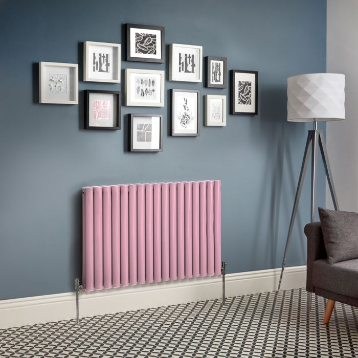 Milano Aruba - Pink Horizontal Double Panel Designer Radiator - Various Sizes