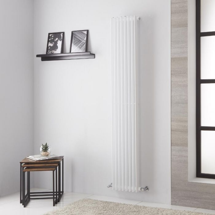 Lazzarini Way - Arezzo - White Vertical Designer Radiator - 1800mm x 325mm