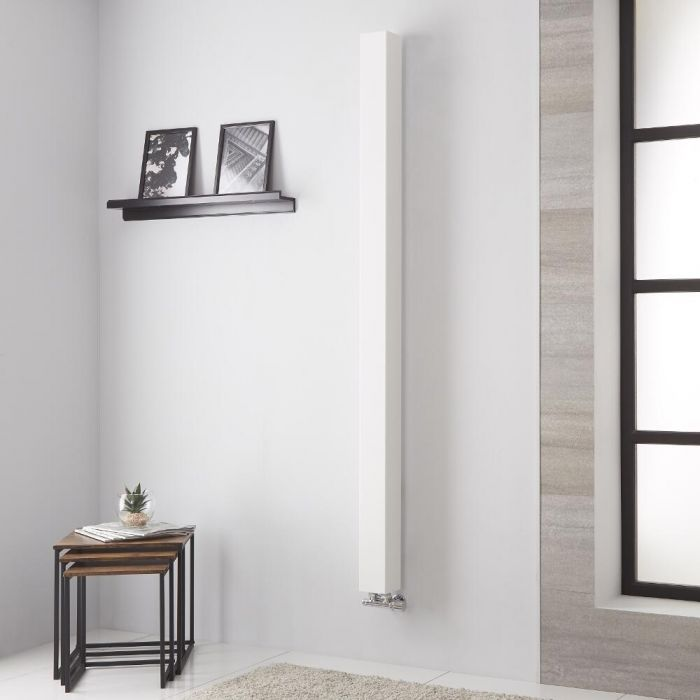Lazzarini Way - OneTube - White Designer Radiator - 1800mm x 100mm