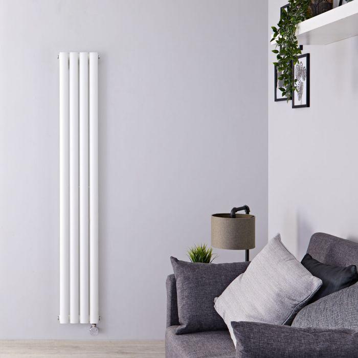 Milano Aruba Slim Electric - White Space-Saving Vertical Designer Radiator 1600mm x 236mm