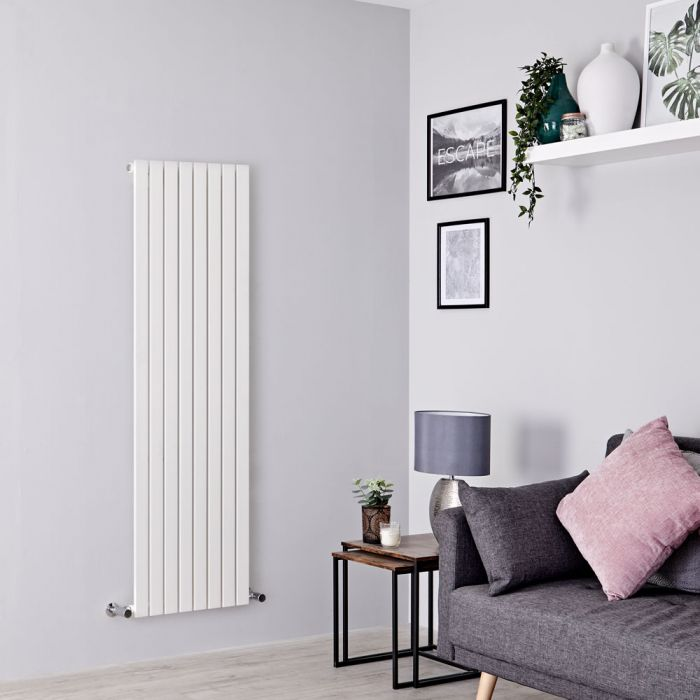 Milano Capri - White Vertical Flat Panel Designer Radiator 1600mm x 472mm