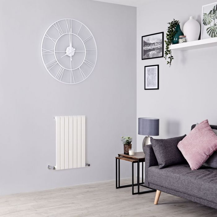 Milano Capri - White Horizontal Flat Panel Designer Radiator 635mm x 420mm