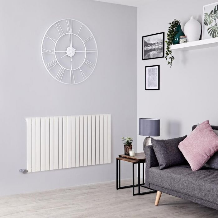 Milano Capri Electric - White Horizontal Flat Panel Designer Radiator 635mm x 834mm