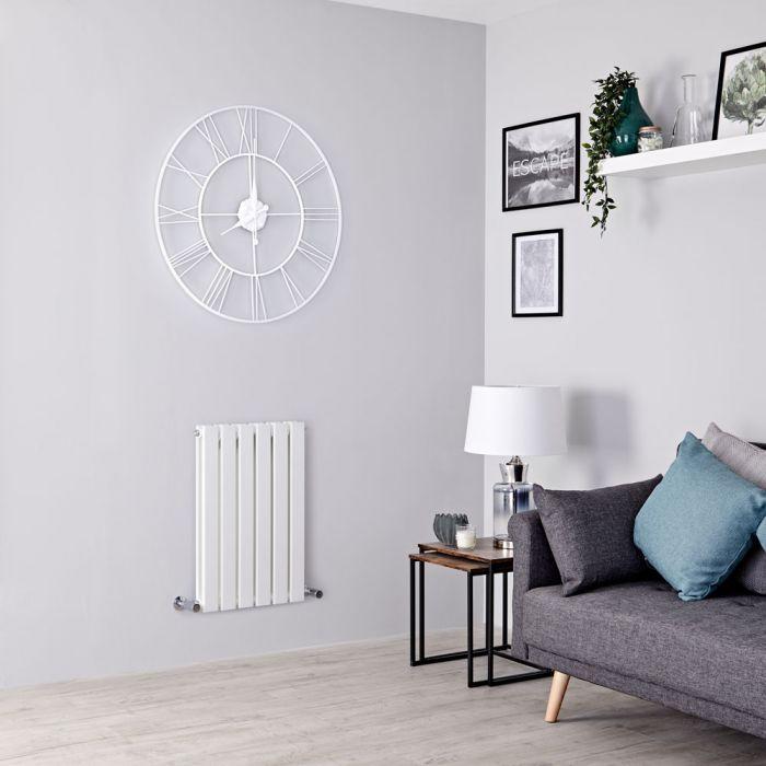 Milano Alpha - White Horizontal Double Slim Panel Designer Radiator 635mm x 420mm