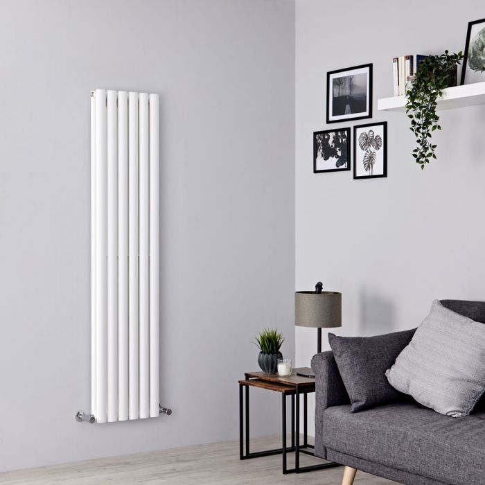 Milano Aruba - White Vertical Designer Radiator 1500mm x 354mm (Double Panel)