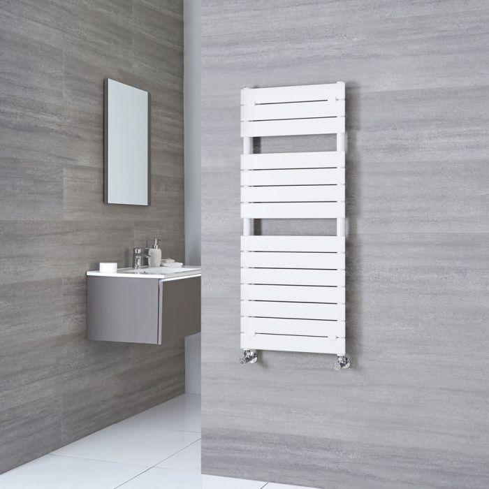Milano Lustro - Designer White Flat Panel Heated Towel Rail 1213mm x 500mm