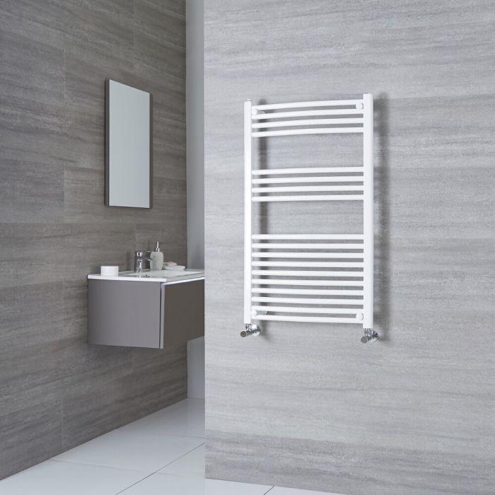 Milano Calder - Curved White Heated Towel Rail 1000mm x 500mm