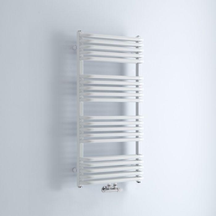 Milano Bow - White D Bar Heated Towel Rail 1000mm x 500mm