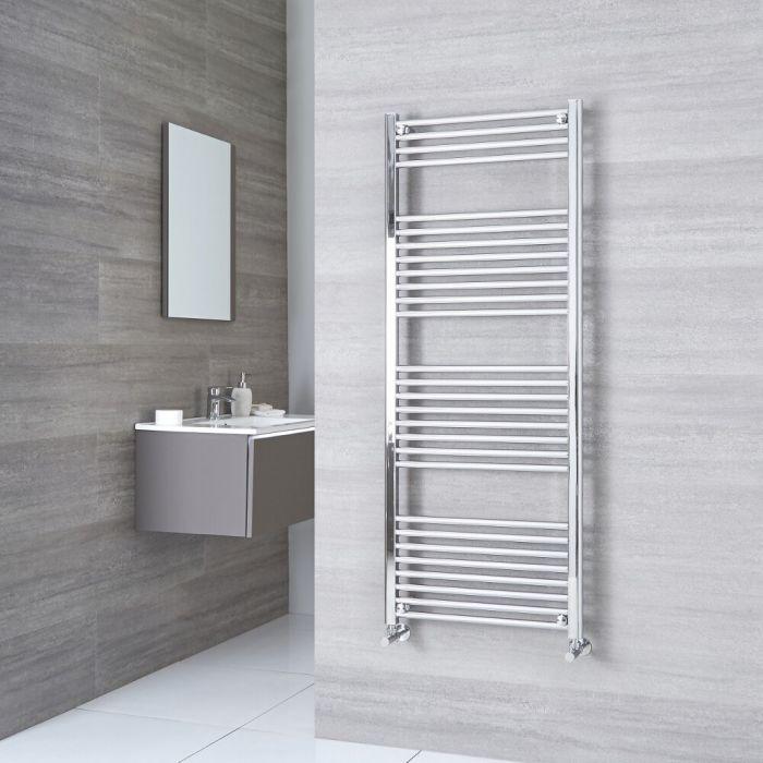 Milano Ribble - Flat Chrome Heated Towel Rail 1500mm x 500mm