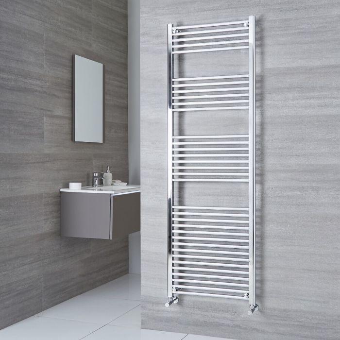 Milano Ribble - Flat Chrome Heated Towel Rail 1800mm x 500mm