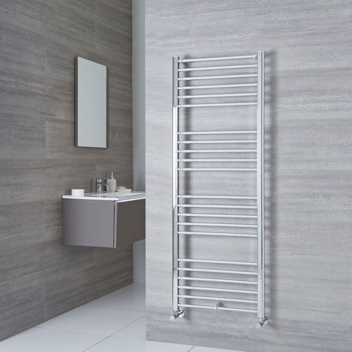 Milano Eco - Flat Chrome Heated Towel Rail 1600mm x 600mm