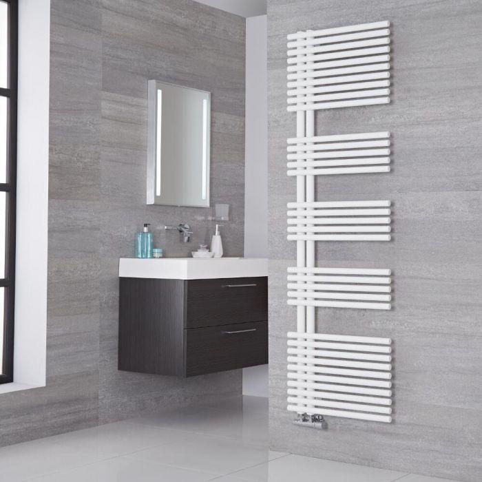 Lazzarini Way - Bari - Mineral White Designer Heated Towel Rail - 1700mm x 500mm