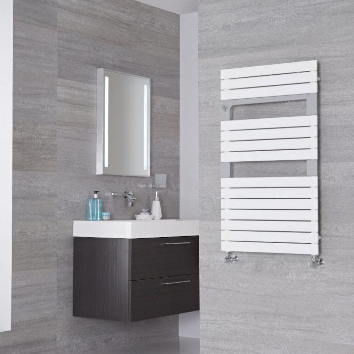 Lazzarini Way - Torino - Mineral White Designer Heated Towel Rail - 952mm x 550mm