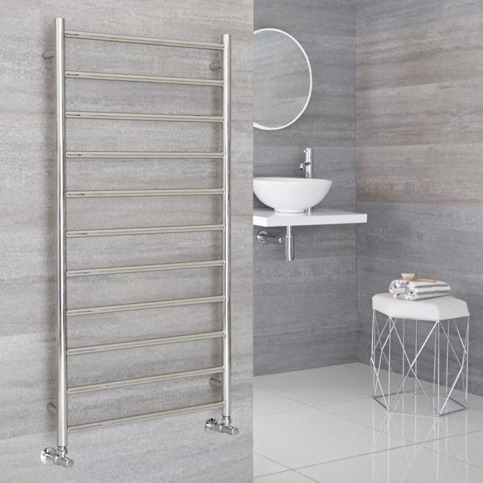 Milano Esk - Stainless Steel Flat Heated Towel Rail - 600mm x 1200mm